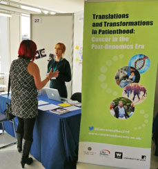 image of Our research fellow Julia in action: networking with Flat Fiends UK